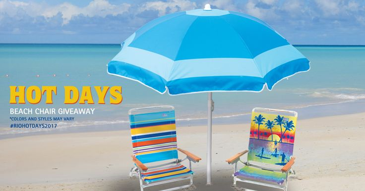 Enter for a chance to WIN the RIO Brands Hot Days Beach Chair Giveaway! There will be 5 lucky winners. Go to the beach in style with these RIO Brands Beach Chairs and Umbrella. Enter NOW through August 21st, 2017.