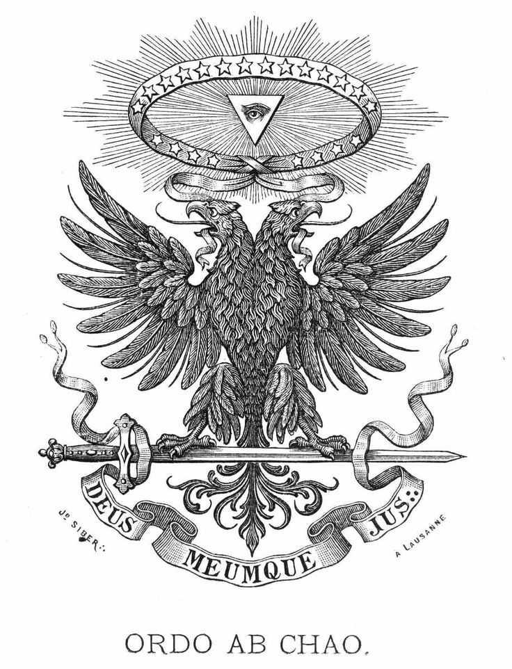 Freemasonry, Franc-maçonnerie, Freimaurerei: Bi-cephalous Eagle... of The 33° / 33rd and last degree of The Ancient & Accepted Scottish Rite (AASR, REAA ) of Freemasonry.