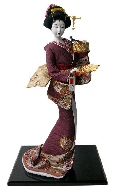 Japanese traditional kimono doll, 1970s