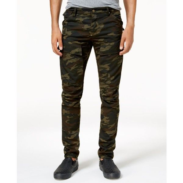 American Stitch Men's Moto Camo Pants ($60) ❤ liked on Polyvore featuring men's fashion, men's clothing, men's pants, men's casual pants, camo, mens pants, mens camouflage pants and mens camo pants