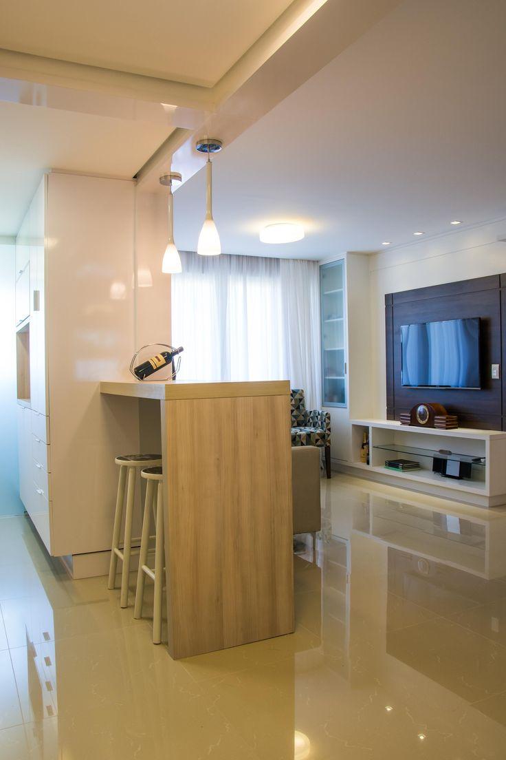 Cozinha americana simples pictures to pin on pinterest - Como decorar una entrada pequena ...