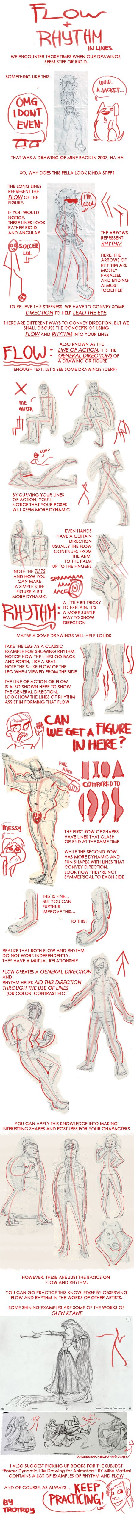 HOW TO MAKE YOUR ART LOOK NICE: Flow and Rhythm by trotroy.deviantart.com on @deviantART