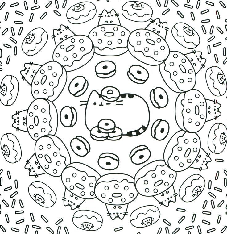 Coloring Rocks Pusheen Coloring Pages Unicorn Coloring Pages Donut Coloring Page