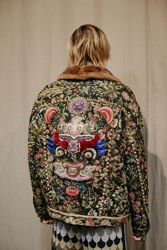 Backstage at the Gucci Men's Fall Winter 2016 Fashion Show: