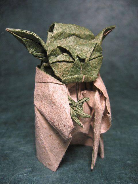 Origami Yoda: Yodaorigami, Nerdy Stuff, Origami Paper, Stars War, Yoda Origami, Geek Crafts, Origami Yoda, Amazing Origami, Starwars