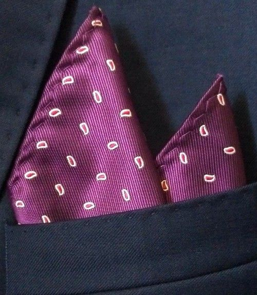 #RichPurplePattern Pocket Square - This exquisitely crafted #PocketSquare will add that touch of character to complete your look. The classic small pink/white pear shaped pattern adorns this stylish #purple pocket square, ensuring you stand out from the crowd.  Order Now: http://bit.ly/1KEtqhD  #BowTie #cufflinks