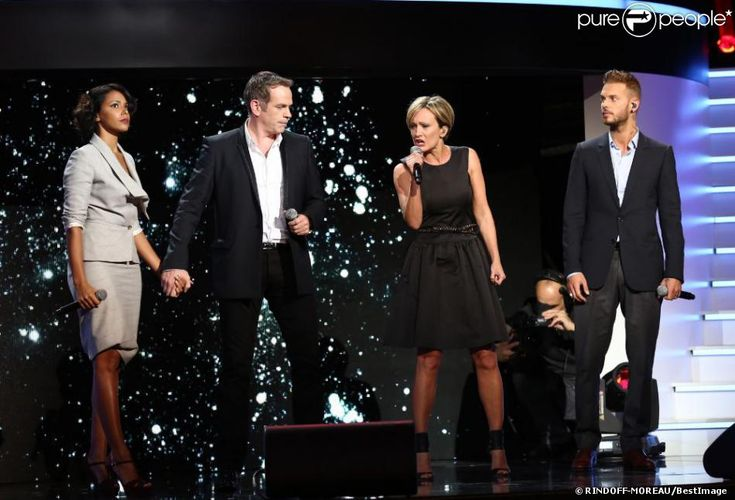Shy'm, Garou, Patricia Kaas et M. Pokora dans Hier Encore.   Photo exclusive. Interdiction de reproduction