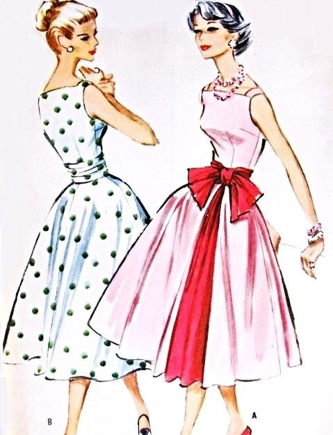 1950s Party Dress Cummerbund and Petticoat Pattern McCalls 4508 Lovely Square Neckline Full skirted Cocktail Evening Dress Bust 32 Vintage Sewing Pattern FACTORY FOLDED
