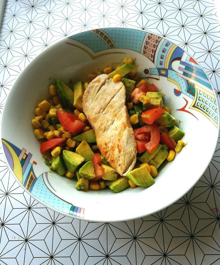 Csirkemell, zöldségek :)
