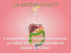 Le saviez-vous ? Il est possible de soigner son estomac au même titre qu'il est possible de soigner une plaie. ========== Soigner son estomac en 5 règles à suivre http://icinger.fr/cinq-regles-suivre-soigner-estomac/