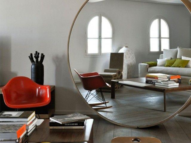 25 melhores ideias de grandes espelhos no ch o no for Casa miroir rond