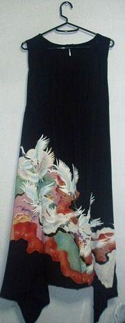 着物リメイク☆留袖リメイク♪♪ハンドメイド☆ - アンテックの着物から作ってます。 飛翔鶴が飛び立つ素敵な留袖からイレギュラーヘムのワンピースをつくりました。...|ハンドメイド、手作り、手仕事品の通販・販売・購入ならCreema。
