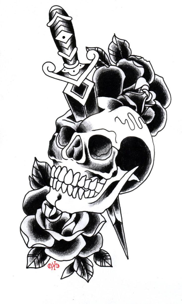 Pin by Michelle Roderick on tatts Skull tattoo design