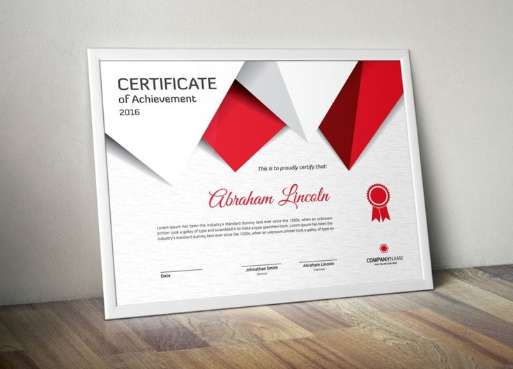 Best Certificate Of Achievement Template Psd Eps Ai Images On