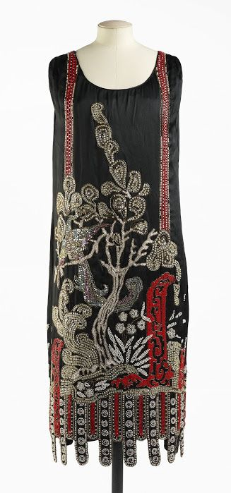 1925 Jean Patou, Nuit de Chine dress - Attributed to House of Patou - Palais Galliera, Museum of Fashion