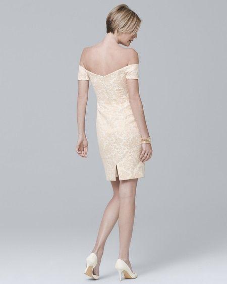 5a00df7628 Women s Badgley Mischka Off-the-Shoulder Sheath Dress by White House Black  Market