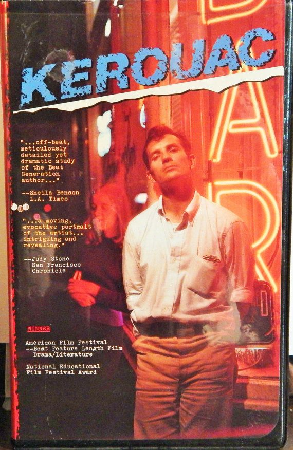 Kerouac VHS 1985 Active Home Video Movie Allen Ginsberg, Lawrence Ferlinghetti, William Burroughs, Carolyn Cassaday, Joyce Johnson,cult film
