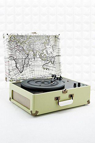 Crosley Keepsake Map Turntable EU Plug - Urban Outfitters
