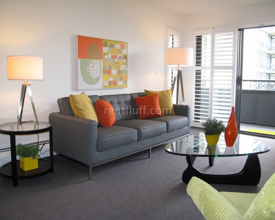 How To Bring Colour With Art And Accessories   Contemporary   Living Room    Vancouver   Flüff Designs U0026 Décor Not Crazy About Orange, But I Like This!