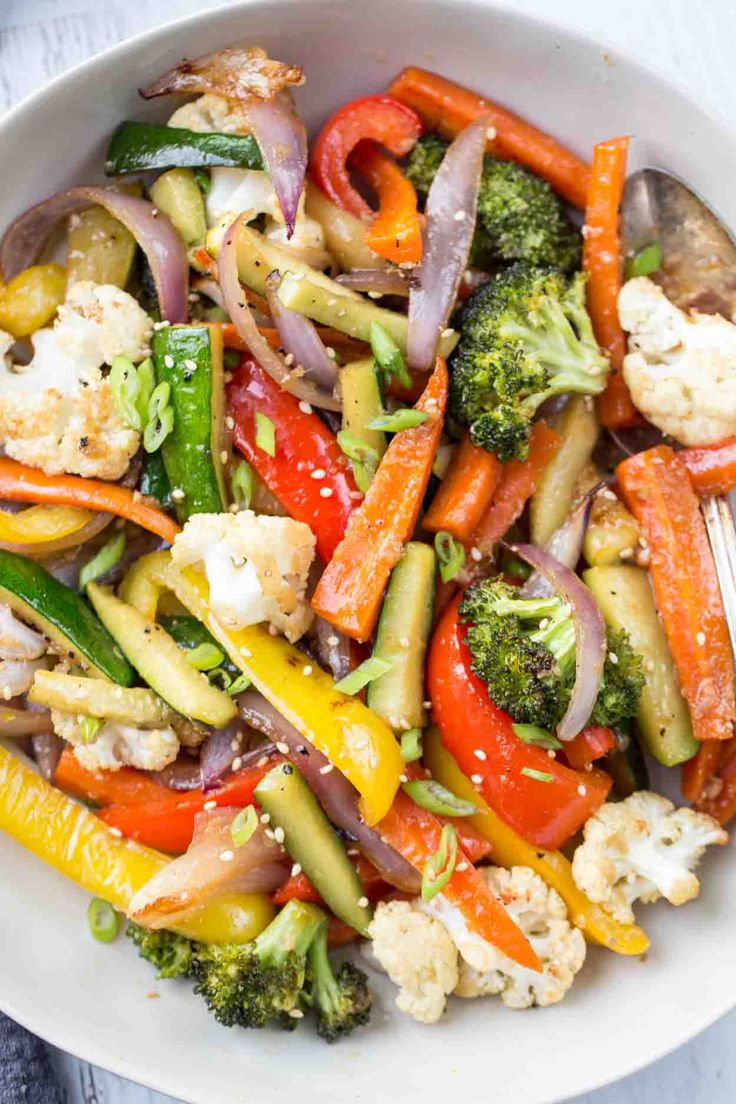Under 30-minute recipe for healthy Roasted Vegetables! Zucchini with peppers, ca…   – Sides