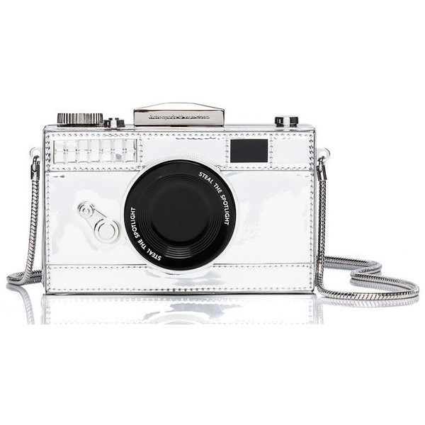 Kate Spade Camera Crossbody found on Polyvore featuring bags, handbags, shoulder bags, purses, cross body, white crossbody, metallic shoulder bag, kate spade, crossbody purse and white cross body purse