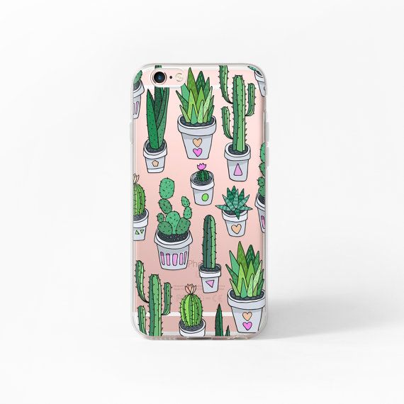 iPhone 6 Case Cactus iPhone 6s Case Clear iPhone by MargaritaCase