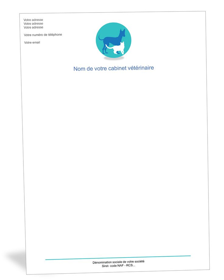 Papier A En Tete Chien Et Chat Veterinaire Veterinaire Cabinet Veterinaire Tete De