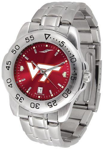 Virginia Tech VT Hokies Men's Stainless Steel Wristwatch