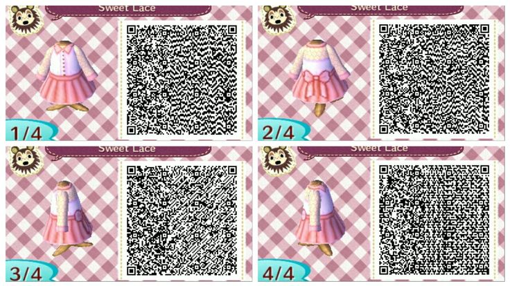 Link for blue and purple versions. acnl qr codes