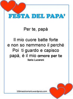 Festa del papà. Letterina