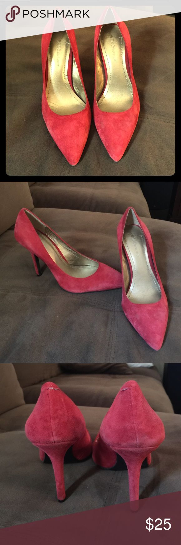 Bcbg heels--weekend sale!! 🎉 Red suede heels size 7 only worn a couple times BCBG Shoes Heels