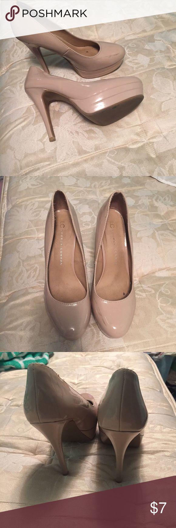 Lauren Conrad Nude 3 inch heels 3 inch nude heels. Closed toe LC Lauren Conrad Shoes Heels