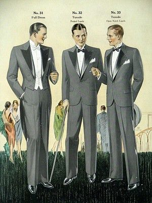 1928 Men's Fashion Illustration 1 Large Full Color Lithograph Beautiful | eBay