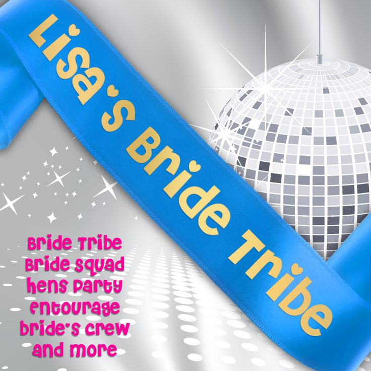 Personalised Hens Party Sash Personalise your Hens Party Sashes with the Bride To Be's name and your choice of text!  Oursoft finish satin sashes come with printed tex, look fantast...