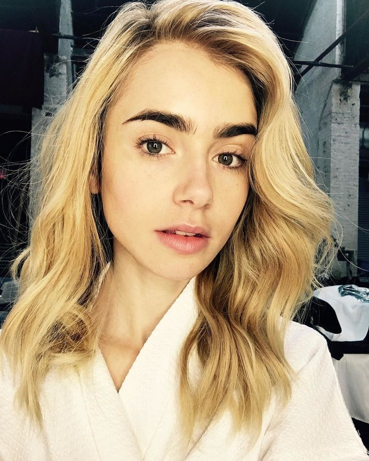 Lily Collins Is the Ultimate Hair Chameleon, From Aubrey Hepburn Bangs To Brand New Platinum Blonde Curls Photos   W Magazine