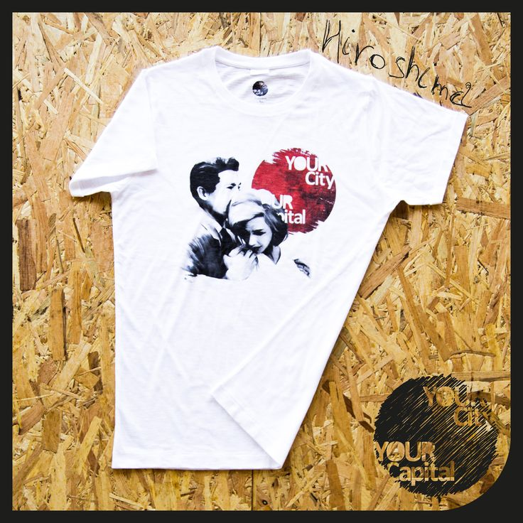 """T-shirt UOMO """"Hiroshima mon amour"""" 19,90€  100% Cotone ring spun, single jersey, filato slub. Risvolto maniche fermato con cucitura in 4 punti, cuciture laterali.  Vintage look... 100% Designed in Italy  -  T-shirt MAN """"Hiroshima mon amour"""" 19,90€  100% ring spun cotton, single jersey, slub yarn. Sewing cuff sleeves stopped with 4 points, side seams.  Vintage look... 100% Designed in Italy"""