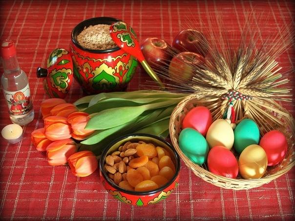 A traditional Nauruz (Tatar new year) tablespread.Nauruz Tatar, Traditional Nauruz