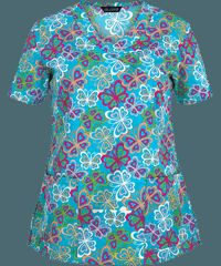 Zoe   Chloe Scrubs Bella Butterfly Print Top