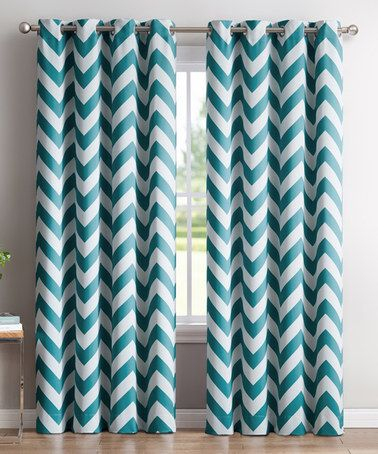 teal bedroom curtains. Teal Chevron Thermal Blackout Curtain Panel  Set The 25 best curtains ideas on Pinterest Window