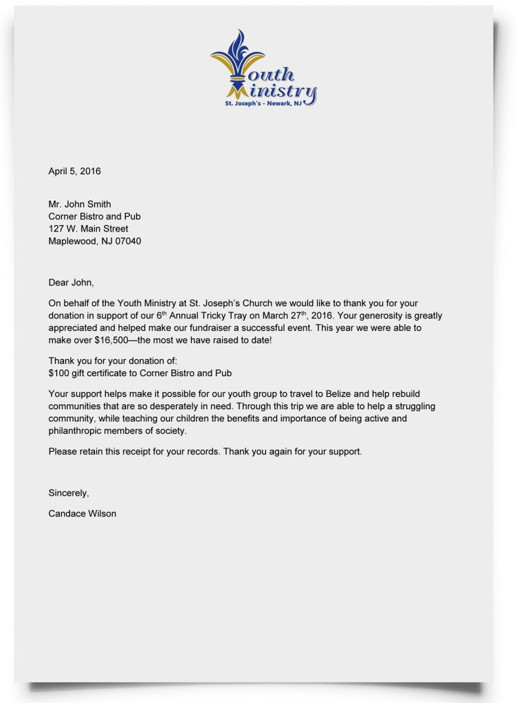 12 best images about donor thank you letters on pinterest