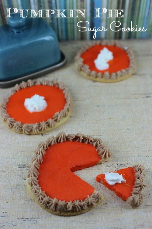Pumpkin Pie Sugar Cookies :: Fall Recipe Ideas