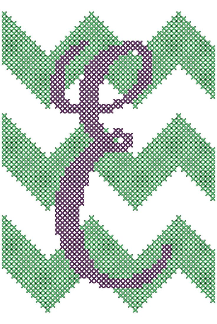 """Chevron Style with Initial Cross Stitch Pattern 4"""" x 6""""  You choose the letter by oneofakindbabydesign on Etsy"""