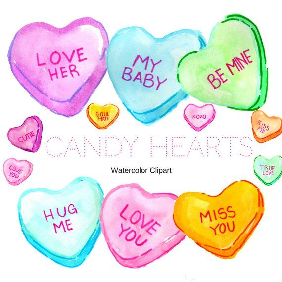 Heart Clipart Valentines Day Clipart Candy Clipart Etsy In 2021 Valentines Day Clipart Valentine Clipart Clip Art