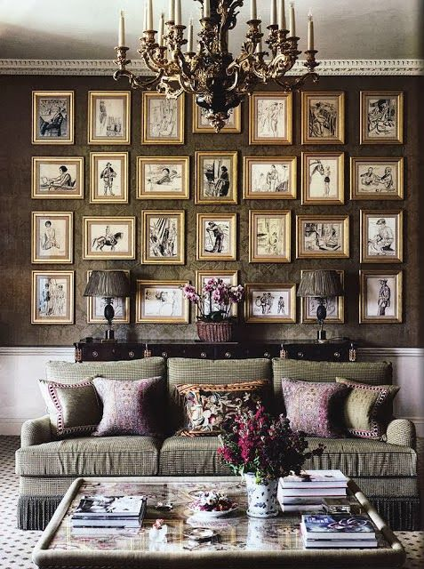 Habitually Chic®: More is More | gallery art walls