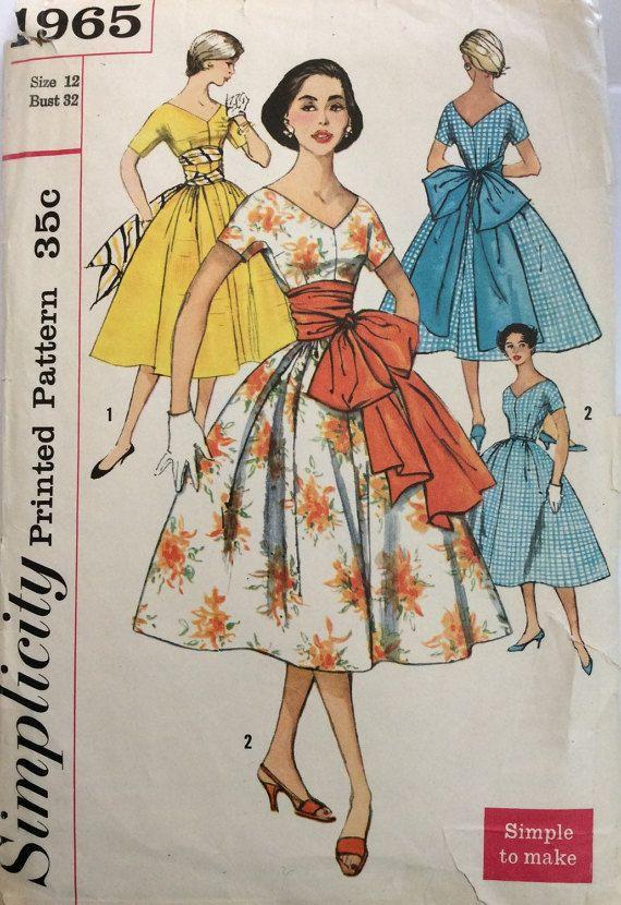 1950er Jahre Rockabilly voller Rock Kleid von 101VintagePatterns