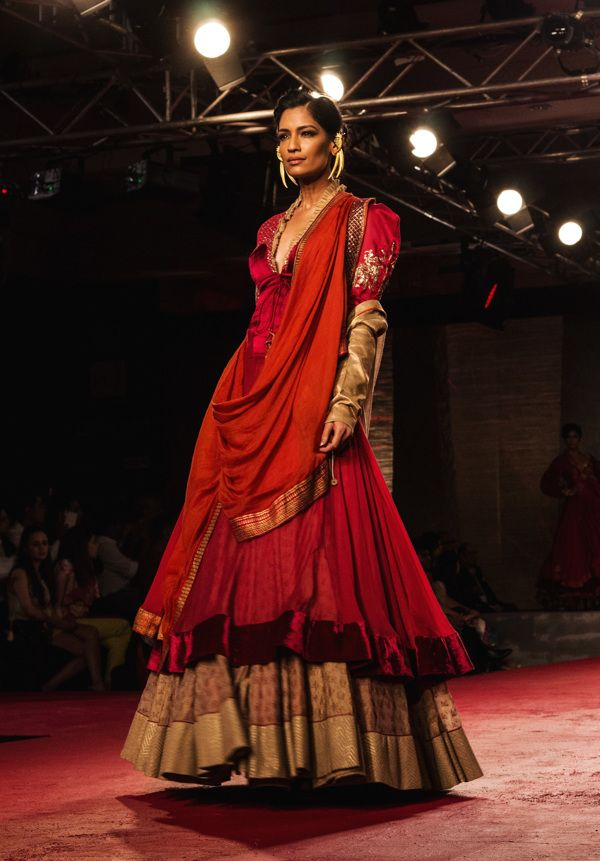 PCJ Delhi Couture Week 2013 / Anju Modi / © PraatikaM on Behance