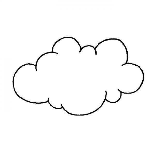 Nube Para Colorear Con Imagenes Dibujos De Nubes Dibujos