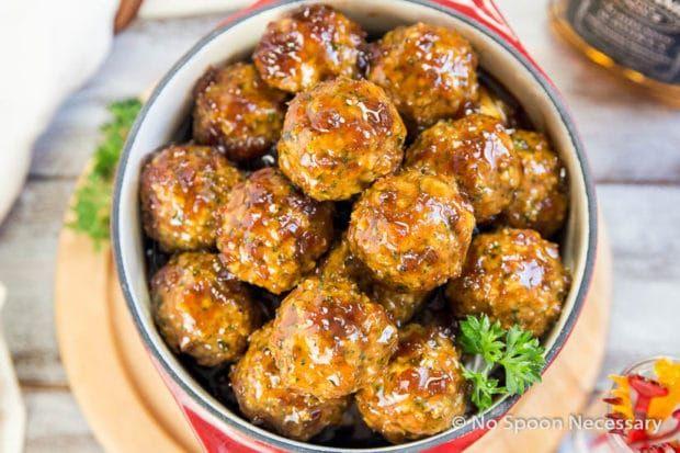 Jack Daniels Glazed Meatballs-13