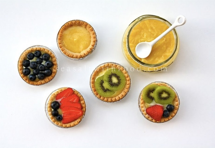 Seasaltwithfood: Lemon Curd Tartlets With Fresh Fruits- A Very Happy New Year