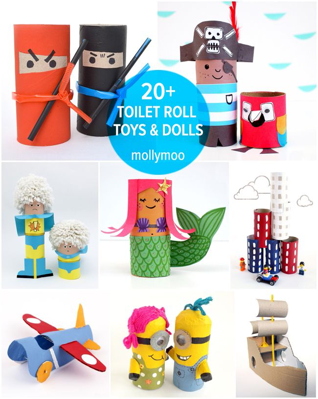 just look at all the cute things you can do with toilet paper rolls -- these are so creative!
